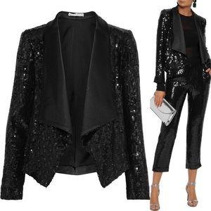 Alice + Olivia black sequin blazer jacket